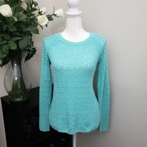 NWOT Tommy Bahama Turquoise Open Knit Sweater